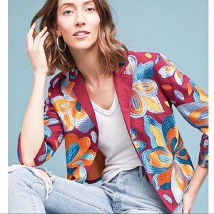 Anthropologie Woodstock Cropped Blazer